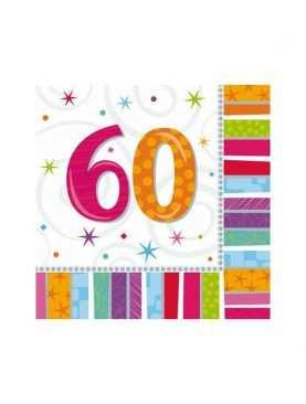 Serwetki urodzinowe liczby 60
