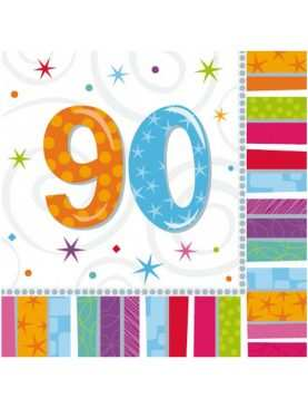 Serwetki urodzinowe liczby 90