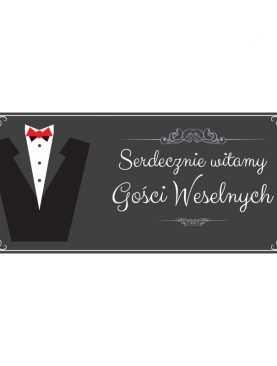 Plakat MEGA Witamy Gości Weselnych