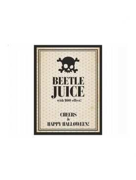 Etykiety samoprzylepne na wino, butelkę z czaszką na 1 listopada