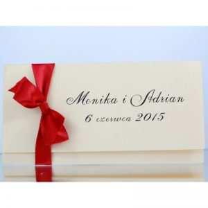 Zaproszenie ślubne zaproszenia na wesele Wzór 128