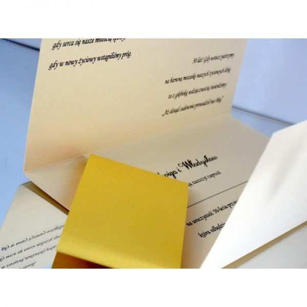 Zaproszenie ślubne zaproszenia na wesele Wzór 143