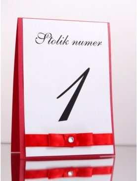 Numer stolika numeracja stołów Wzór 1