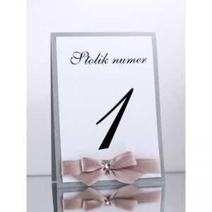 Numer stolika numeracja stołów Wzór 2