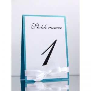 Numer stolika numeracja stołów Wzór 3