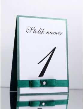 Numer stolika numeracja stołów Wzór 5