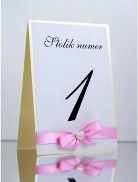 Numer stolika numeracja stołów Wzór 7