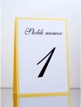 Numer stolika numeracja stołów Wzór 10