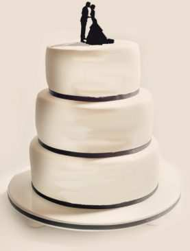 Figurka na tort z PLEXI czarna Wzór 1