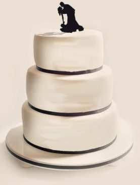 Figurka na tort z PLEXI czarna Wzór 3
