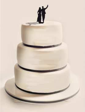 Figurka na tort z PLEXI czarna Wzór 7