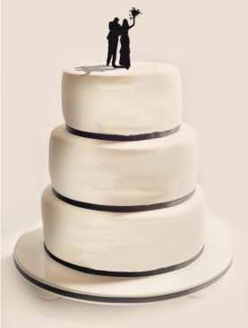 Figurka na tort z PLEXI czarna Wzór 8