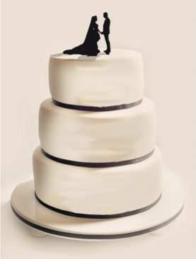 Figurka na tort z PLEXI czarna Wzór 9