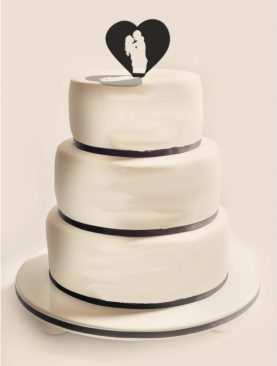 Figurka na tort z PLEXI czarna Wzór 13