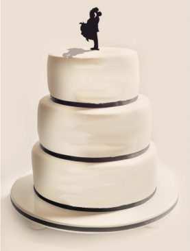Figurka na tort z PLEXI czarna Wzór 15