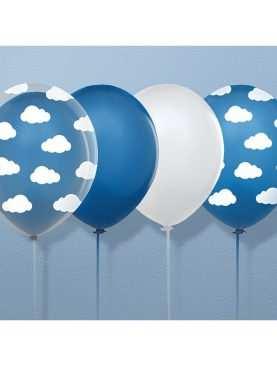 Balony 30cm Chmurki Crystal Clear Przezroczyste Kolekcja Samolocik