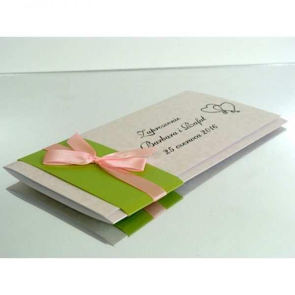 Zaproszenie ślubne zaproszenia na wesele Wzór 146