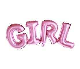 Balon foliowy GIRL różowy urodziny roczek chrzest