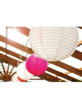 Lampiony papierowe kule białe 25 cm latarnie