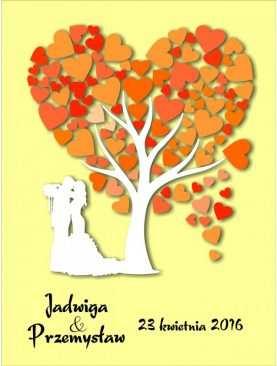 Drzewo plakat księga gości na płótnie nadruk wzór 9