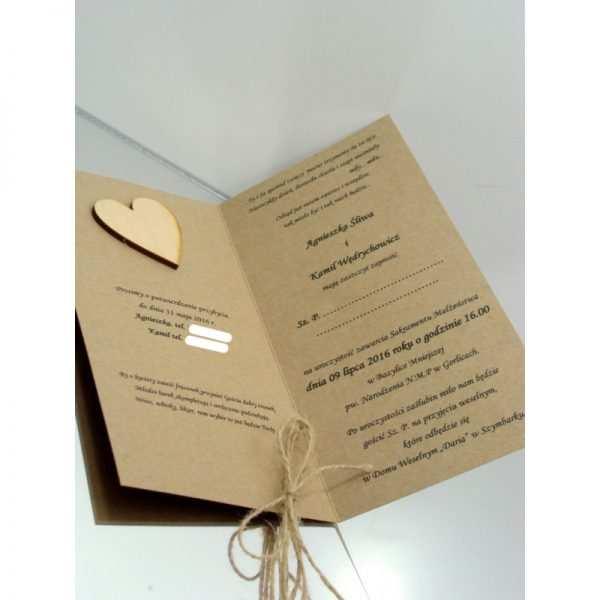 Zaproszenie ślubne zaproszenia na wesele Wzór 155