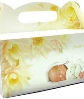 Pudełko na ciasto CHRZEST CHRZCINY pudełka tekturowe