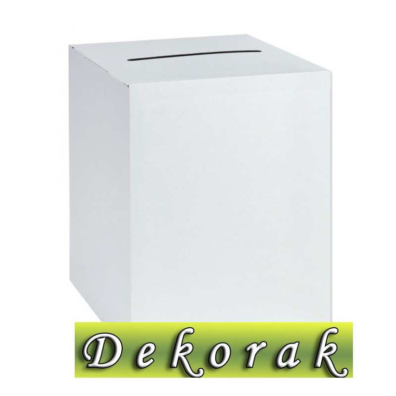 Niesamowite Pudełko na koperty, telegramy kopertówka białe gładkie - Dekorak RC83