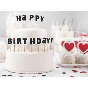 Karteczki na piku Happy Birthday baner urodzinowy