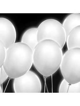 Balony LED białe ledowe świecące baloniki
