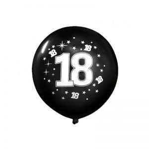 Balony urodzinowe 18 stka MEGA czerowny