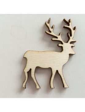 Renifer drewniany ze sklejki 7 cm