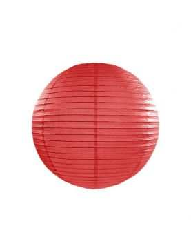 Lampion papierowy kula wisząca czerwona 35 cm