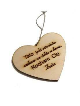 Brelok serce serducho dla Taty Babci Dziadzia Walentynki