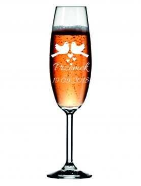 Kieliszek z grawerem grawerowane kieliszki do szampana WZÓR 4
