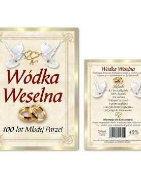 Naklejka dwustronna etykieta samoprzylepna na alkohol 50 szt WZÓR 3