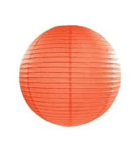 Lampion papierowy kula wisząca POMARAŃCZ 25 cm
