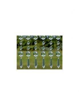 Girlanda kryształowa ze stożkiem kryształkowa perłowa