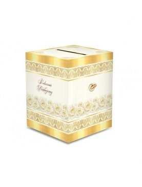 Pudełko na koperty, telegramy kopertówka złote
