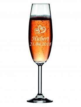 Kieliszek z grawerem grawerowane kieliszki do szampana WZÓR 5