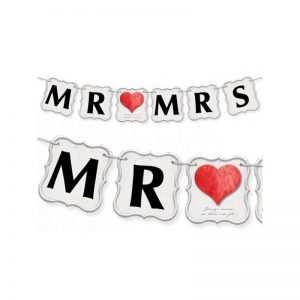 Baner do dekoracji Mr & Mrs
