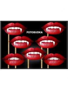 Usta czerwone do zdjęć fotobudka 7 szt