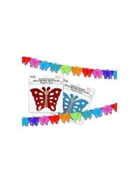 Girlanda motylki urodzinowa kolorowe motylki
