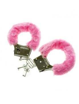 Kajdanki różowe z futerkiem Wieczór Panieński