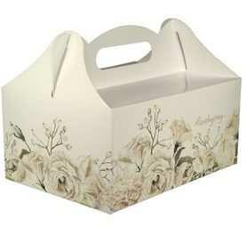 Pudełko na ciasto weselne pudełka tekturowe WZÓR KREMOWY