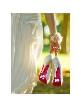 Naklejki na buty do sesji 2 szt zdjęciowej kościoła