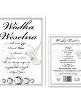 Naklejka dwustronna etykieta samoprzylepna na alkohol 50 szt WZÓR 8