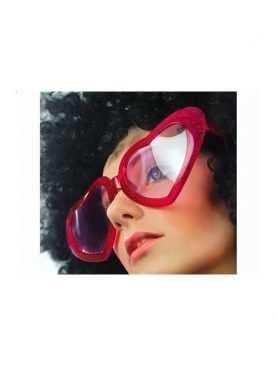 Okulary Mega serca czerwone lub różowe