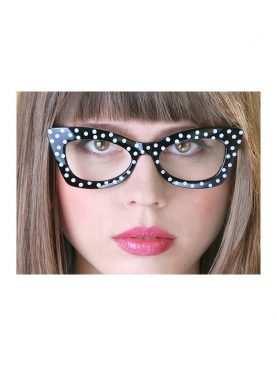 Okulary w kropki czarno białe black & white