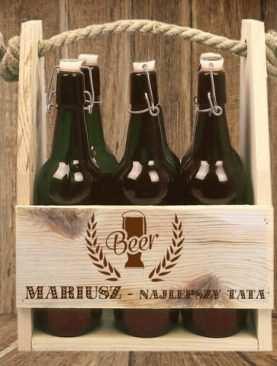 Nosidło drewniane na 6 butelek