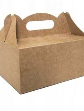 Pudełka na ciasto tekturowe pudełko szyszka ŚLUB ekologiczne brązowe
